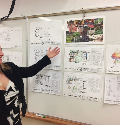 Erin proudly displaying her final project