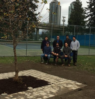 Our students built a beautiful reflection space in Amy's Garden at Maywood Community School (2016)